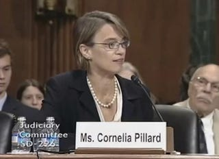 Cornelia Pillard at a Senate Judiciary Commmittee hearingYouTube