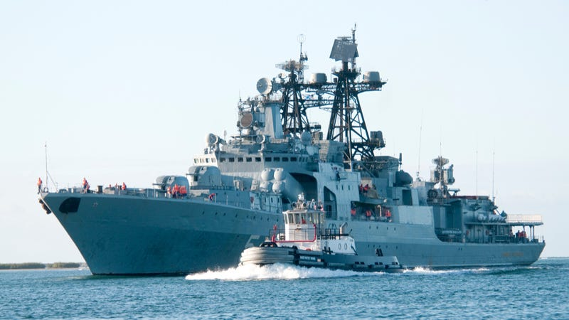 The Russian Navy destroyer RFS Admiral Panteleyev. Photo credit: U.S. Navy