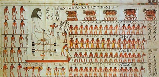 papiro spiega come spostare massi sulla sabbia