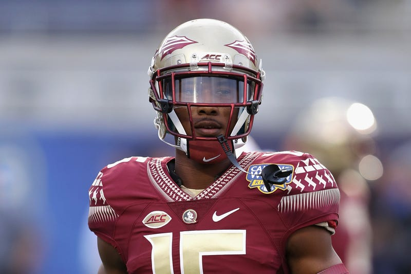 Travis Rudolph of the Florida State Seminoles during a game against the Mississippi Rebels at Camping World Stadium on Sept. 5, 2016, in Orlando, Fla.Streeter Lecka/Getty Images