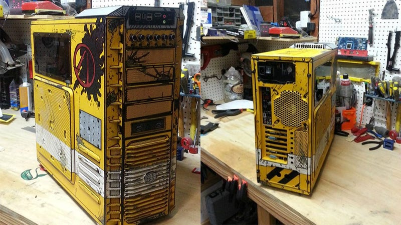 Illustration for article titled Borderlands 2 PC Case Mod Is Just Absolutely Perfect