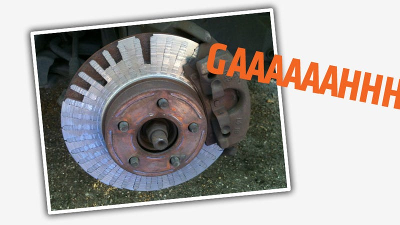 Illustration for article titled These Worn Brake Rotors Are Terrifying