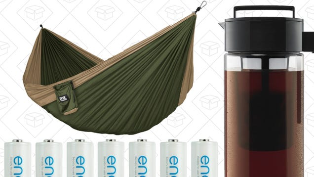 Today's Best Deals: Cold Brew, Eneloops, Beach Chairs, Hammocks