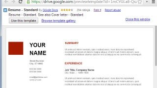 Use Google Docs\' Resume Templates for a Free, Good-Looking ...