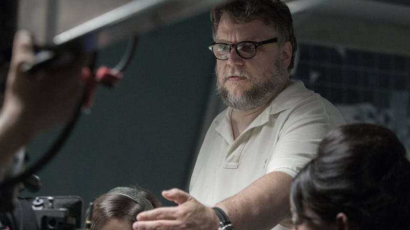 Guillermo del Toro on the set of The Shape of Water