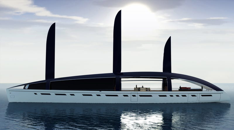Illustration for article titled Soliloquy Super-Green Super-Yacht Is Obviously Super-Cool and Super-Expensive