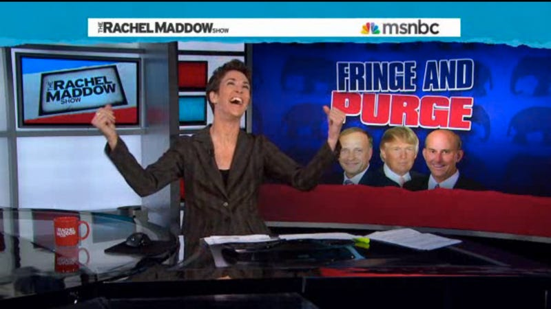 Illustration for article titled Rachel Maddow Takes Down the Nuttiest Republicans In One Fell Swoop