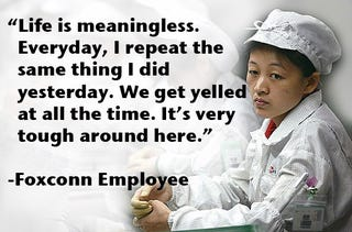 """Illustration for article titled Foxconn Employee: """"Life Is Meaningless"""""""