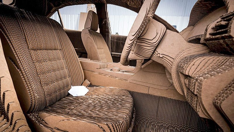 You Can Drive Lexus Laser Cut Cardboard Car But You Probably