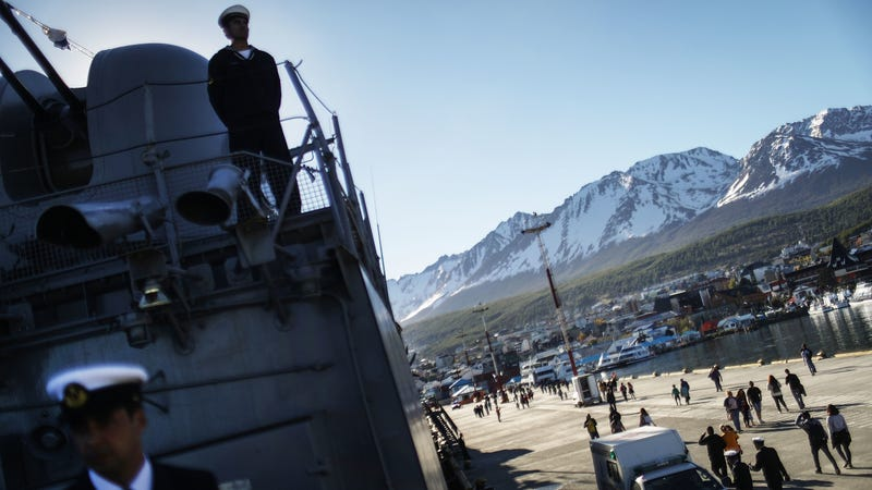Argentine Navy sailors in Ushuaia, Argentina in 2005. Photo: Getty Images