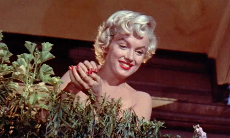 Marilyn Monroe in a screenshot from the 1955 film Seven Year Itch