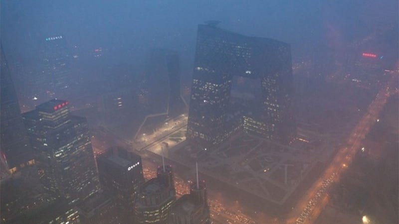 Illustration for article titled Beijing Is So Smoggy Right Now It Looks Like Blade Runner