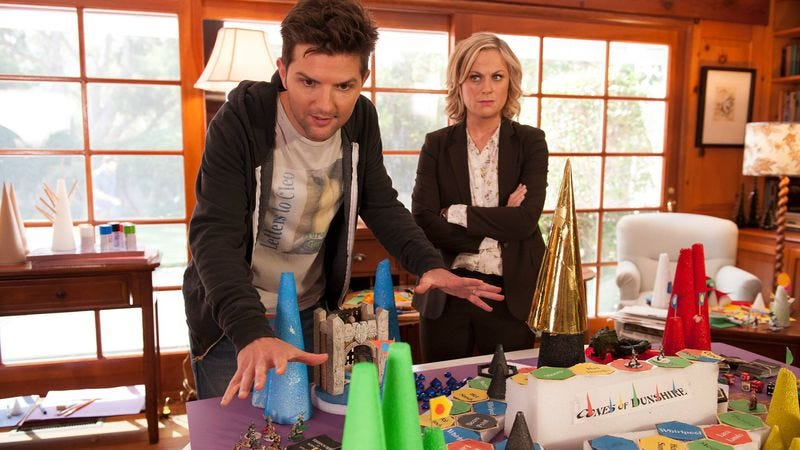 Parks And Recreation's fake game Cones Of Dunshire is now ...