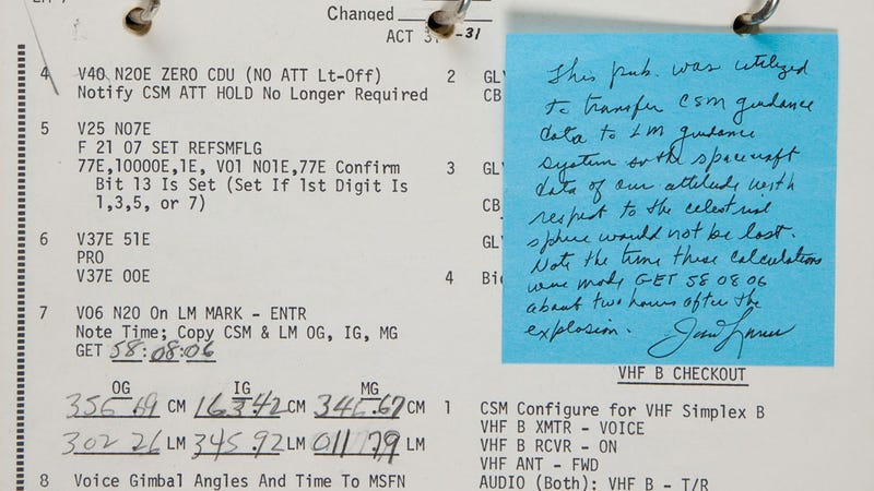 The Math That Saved Apollo 13 Just Sold For  388 375