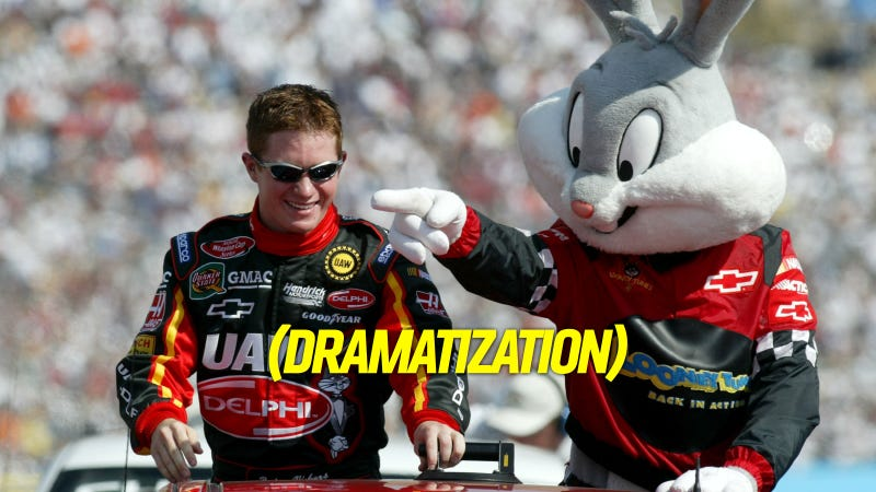 Illustration for article titled Wascally Wabbit Almost Interrupts NASCAR's Duck Commander 500