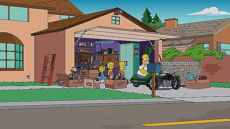 Homer Simpson Finds A Morgan 3-Wheeler - 85.8KB