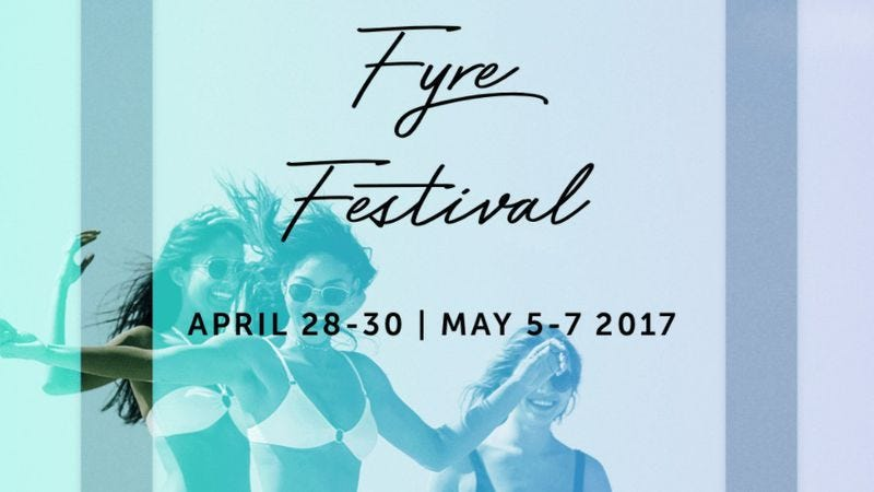 Screenshot: Fyre Festival