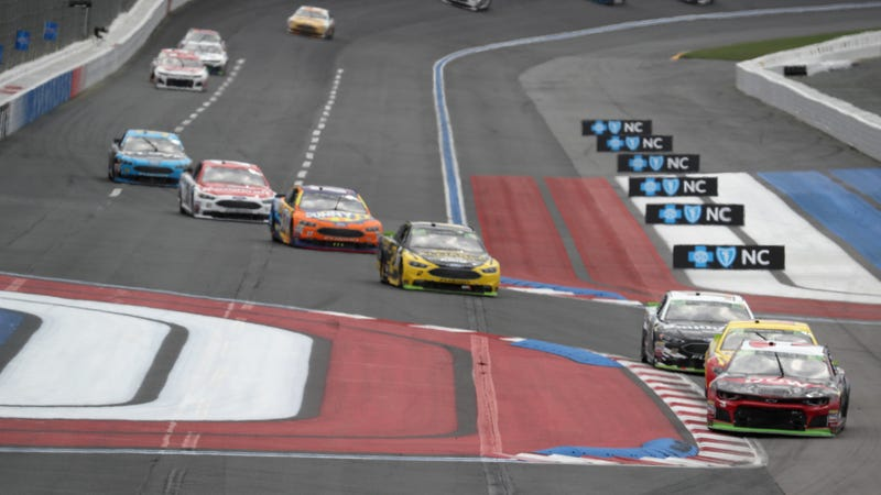 Monster Energy NASCAR Cup Series cars at Charlotte Motor Speedway's roval in September.