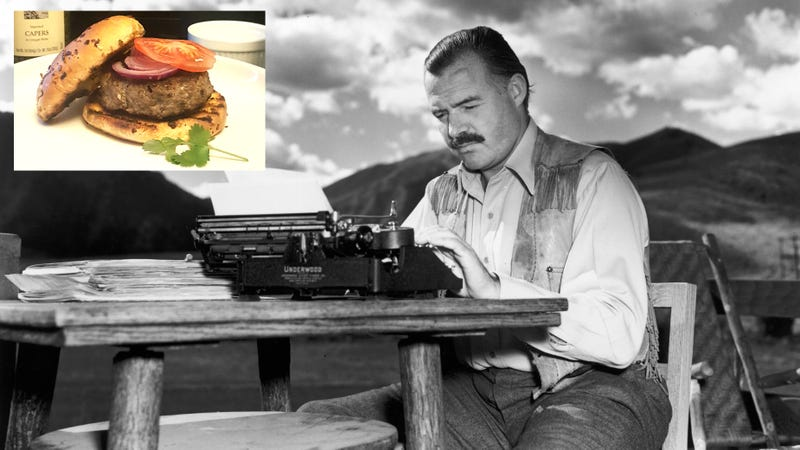 Illustration for article titled For whom the grill tolls: Make Ernest Hemingway's hamburgers