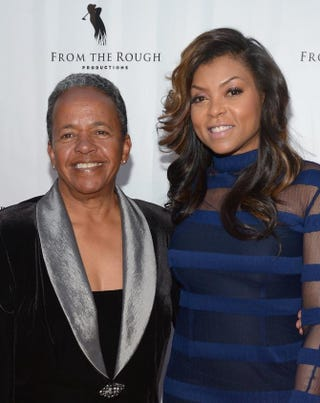 Coach Catana Starks and actress Taraji P. Henson attend the screening of From the Rough at ArcLight Cinemas April 23, 2014, in Hollywood, Calif.Jason Kempin/Getty Images