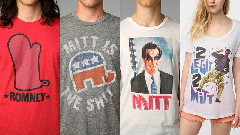 Illustration for article titled Mitt Romney Has a Lot of Unsold T-Shirts on His Hands