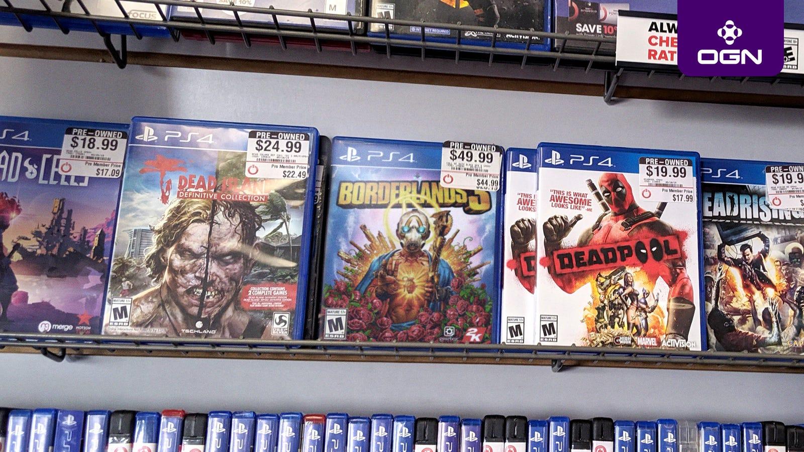 GameStopな販売に使われているバージョンのゲームの日の後で
