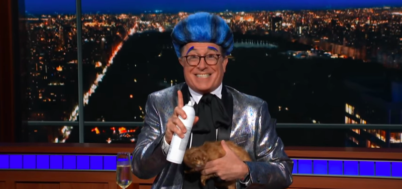 Illustration for article titled Stephen Colbert bids an appropriately toxic Hunger Games farewell to corrupt plutocrat Scott Pruitt