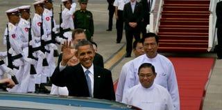 President Barack Obama in Myanmar, or Burma (Paula Bronstein/Getty Images News)