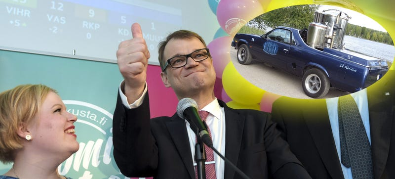 Illustration for article titled El Camino-Driving, Jalopnik-Endorsed Badass Elected Leader Of Finland