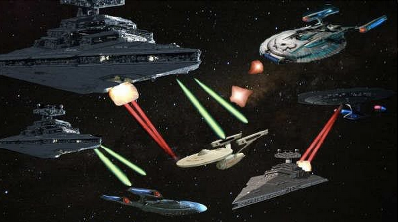 Illustration for article titled Which is More Technologically Advanced–Star Wars or Star Trek?