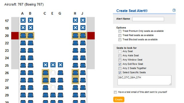 Expertflyer Alerts You When Better Airplane Seats Are