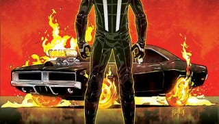 Illustration for article titled The new Ghost Rider is ditching his motorcycle for a car