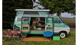 Illustration for article titled You'll Learn To Love Glamping In This Dodge Tradesman Camper