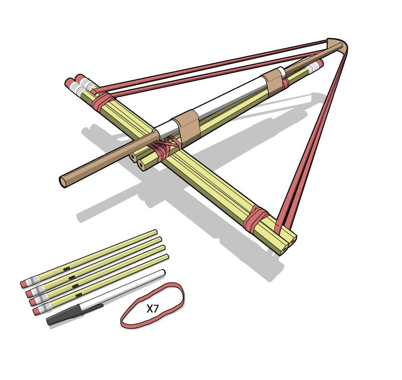 Illustration for article titled How to Build a #2 Crossbow