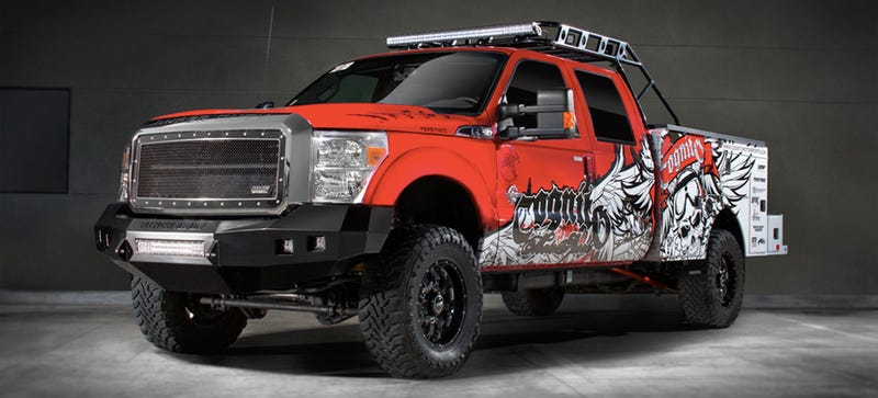 Illustration for article titled Your Guide To The Most Extreme Rich Redneck Trucks Of Las Vegas