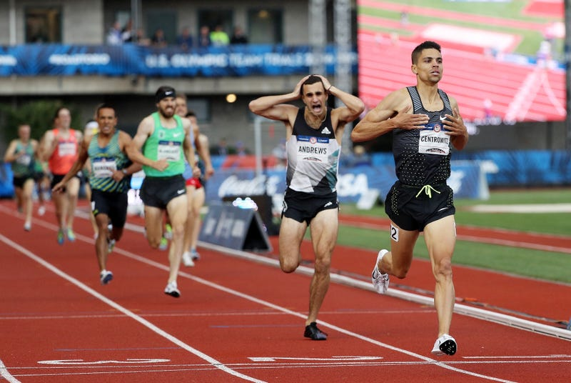 The finish of the men's 1500 Meter Final at 2016 U.S. Olympic Trials.