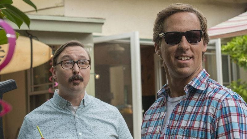 John Hodgman and Nat Faxon in Married