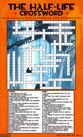 Illustration for article titled Attempt Half-Life Crossword, Face Full-Life Consequences