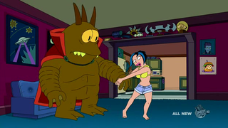On Futurama, an evil alien overlord just wants someone to