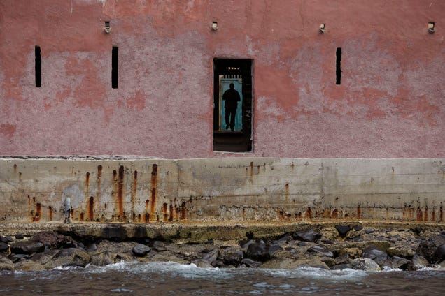 "A man is seen through the ""Door of No Return"" on Goree Island in Dakar, Senegal, from which Africans were shipped across the Atlantic Ocean into slavery."