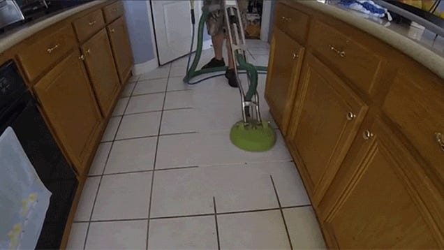 Impossibly Strong Cleaning Machine Vaporizes Dirty Ass Floors