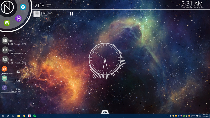 The NXT Nebula Desktop