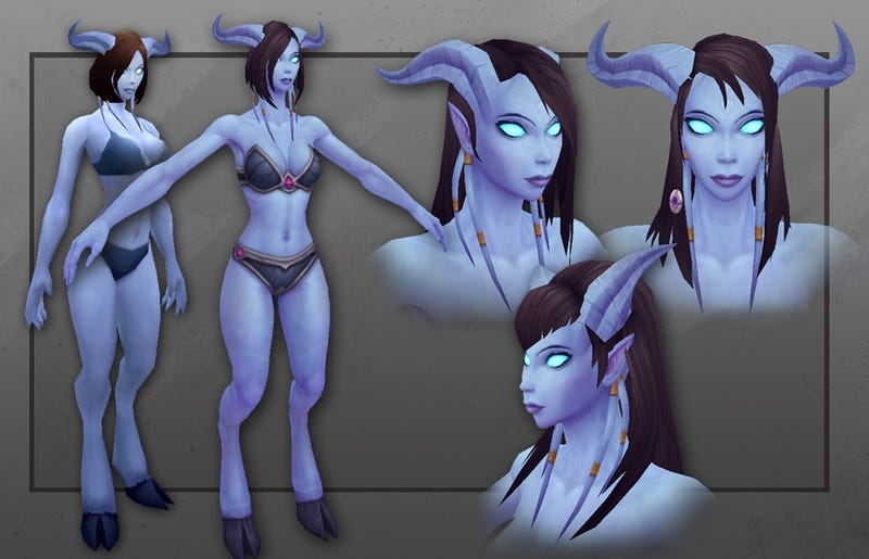 Illustration for article titled Krona ki Cristorr! The Draenei Female gets her Warcraft model revamp