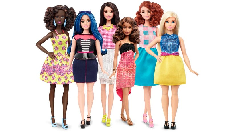 Illustration for article titled Barbie Is Finally Available In Three New Body Types