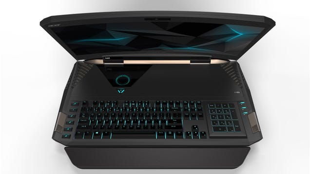 This 21-Inch Gaming Laptop With a Curved Display Is Too Absurd for This World