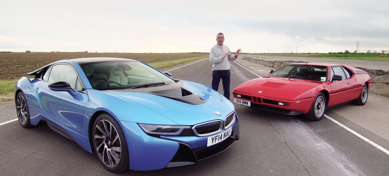 Illustration for article titled This Is The BMW M1 vs. i8 Track Showdown You've Been Waiting For