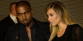 Kanye West and Kim Kardashian (Pierre Andrieu/Getty Images)