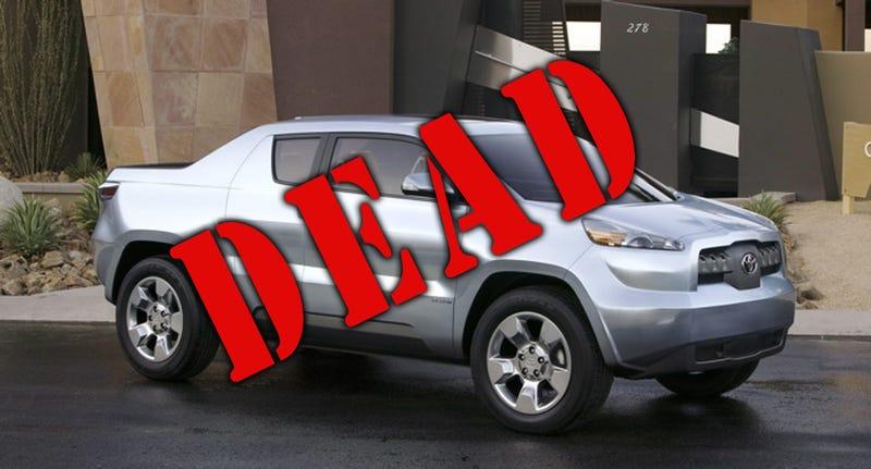 Illustration for article titled DOA-BAT: Toyota Hybrid Truck Concept Dead