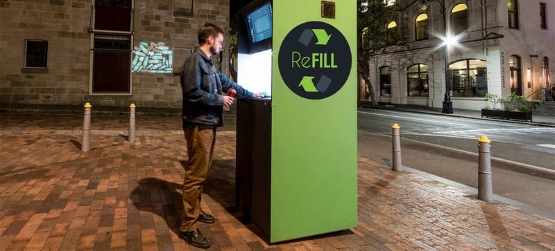 Illustration for article titled This Interactive Trash Bin Turns Recycling Into a Giant Game of Plinko