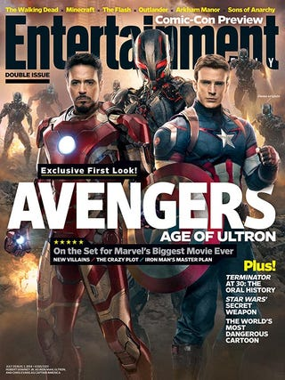 """Illustration for article titled Extra! Extra! First """"leaked"""" photo of Ultron from Avengers 2!"""